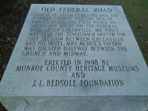 Old Federal Road Historic Marker